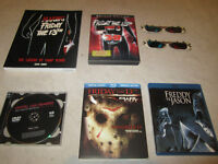 FRIDAY THE 13th movie (DVD and Blu-ray) and book collection for