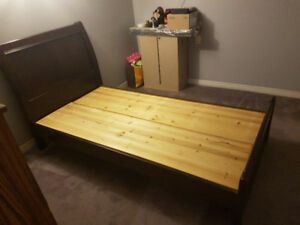 Wooden Twin Platform Bed For Sale