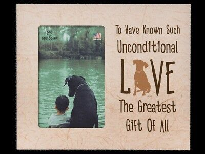 Unconditional Love Dog Pet Loss Memorial Vertical Frame In Memory Of #1642