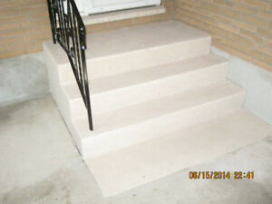 repair concrete steps and parge foundations