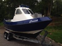 21' Devon fisher, GRP fishing boat. 30hp Honda