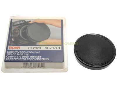 Tappo frontale a cappuccio per obiettivi diametro 61mm. Front lens cover.