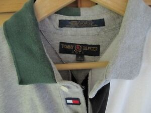 Tommy Hilfiger grey,white,navy blue and green polo West Island Greater Montréal image 2