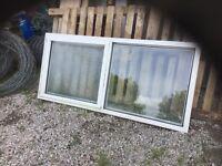 A white glazed window frame,