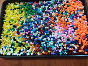 Pony beads   2 lbs  $8.00 for the  lot