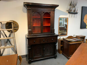 Antique cabinet cupboard empire American