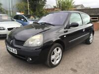 2004 Renault Clio Hatch 3Dr 1.2 16V 75 Dynamique Petrol black Manual