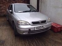 03 VAUXHALL ASTRA LS 16V 5 DOOR HATCH SILVER Z157 1.6 PETROL ENGINE - Z16XE BREAKING SPARES PARTS