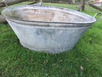 Galvanised Wash Tub