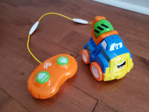 Remote controlled cement mixer