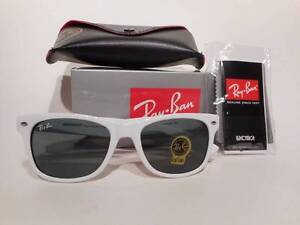 Ray Ban White Wayfarer Unisex Sunglasses RB2140 , Brand New w Scoresby Knox Area Preview