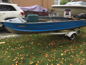 14' PRINCECRAFT ALUMINUM BOAT READY TO GO!