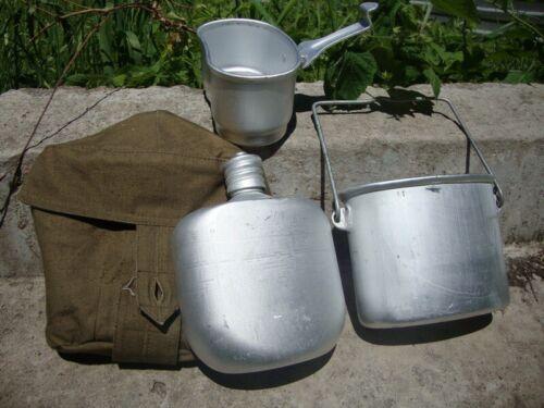 Russian VDV Mess Kit Canteen Airborne Flask Soviet Army Kotelok w Pouch Bag