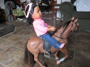18 inch doll and her horse