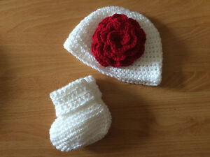Customizable, Crochet, Baby Hat & Booties - Different Styles