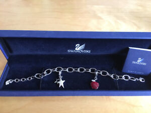 Swarovski bracelet with two crystal charms