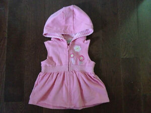 Sleeveless Hoodie for Girls (2T)