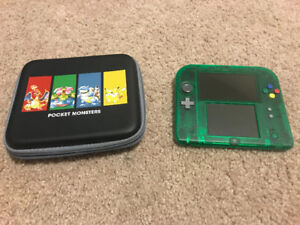 Japanese Nintendo 2DS with case and Pokemon Games