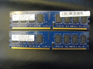 2 x 2G DDR 2 800  pc2-6400   Desktop Ram