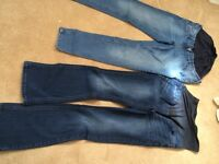 2 pairs of maternity jeans