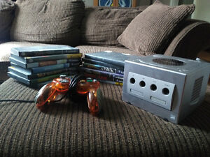 GameCube + cords, controller and 13 games
