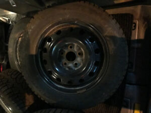 General Altimax P215 60 R16 Winter Tires and Rims