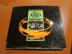 THE FILM BOOK OF LORD OF THE RINGS ~ ZAENTZ & BAKSHI ~ HC ~ 1st