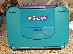 SEGA Pico game system and books/games - Vintage