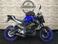 2016 Yamaha MT125, Gel Seats, Flyscreen, Tank Bag, Carbon Exhaust.