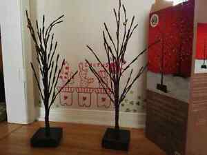 """2× 25.2"""" LED Twig Xmas Trees Battery Operated w/ timer function London Ontario image 1"""