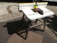 New  Router  table priced  to  move !
