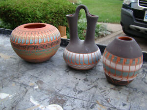 Beautiful assortment of Navajo Pottery