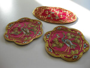 For sale: beautiful decorative Chinese brocades - 3 pieces