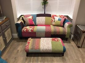 DFS Shout Sofa and Footstool