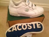 Size 4 Lacoste boxed
