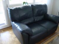 FREE Navy leather 2 seater sofa plus other stuff