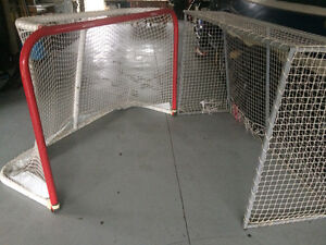 Two hockey nets