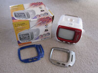 """Curtis 5"""" portable TV + AM/FM Radio with interchangable covers"""
