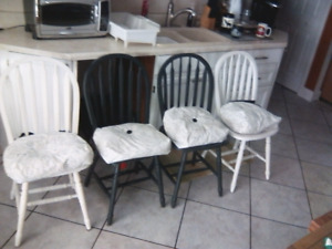 Four chairs and cushions