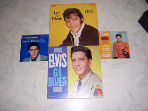 FOR SALE ELVIS THE KING RECORD.S &2 ,45s, NICE ,