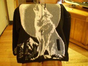 wool puncho handmade rare import bob marley & wolf to sale (new)