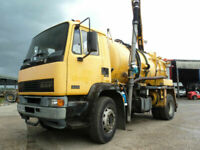 1998 DAF 55-180 Ti LEFT HAND DRIVE, Fitted Whale 3in1 Septic Tanker