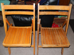 Vintage wooden folding chairs  $40 each