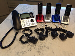 Cordless phone system, link two cell phones, excellent condition