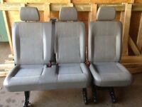 Vw transporter T5 rear kombi quick release seats INCA