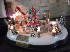 Lighted Musical Christmas Skating Rink Asking $20.00