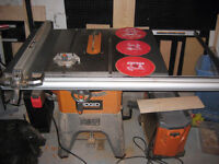 Ridgid R4512 Table Saw with Blades