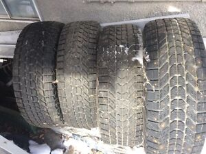 For sale, 4 x studded winter tires,