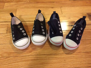 Size 7: 2 Pairs Slip On Sneakers - Both Pairs for $10