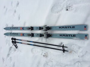 Skis (185 length), bindings and poles